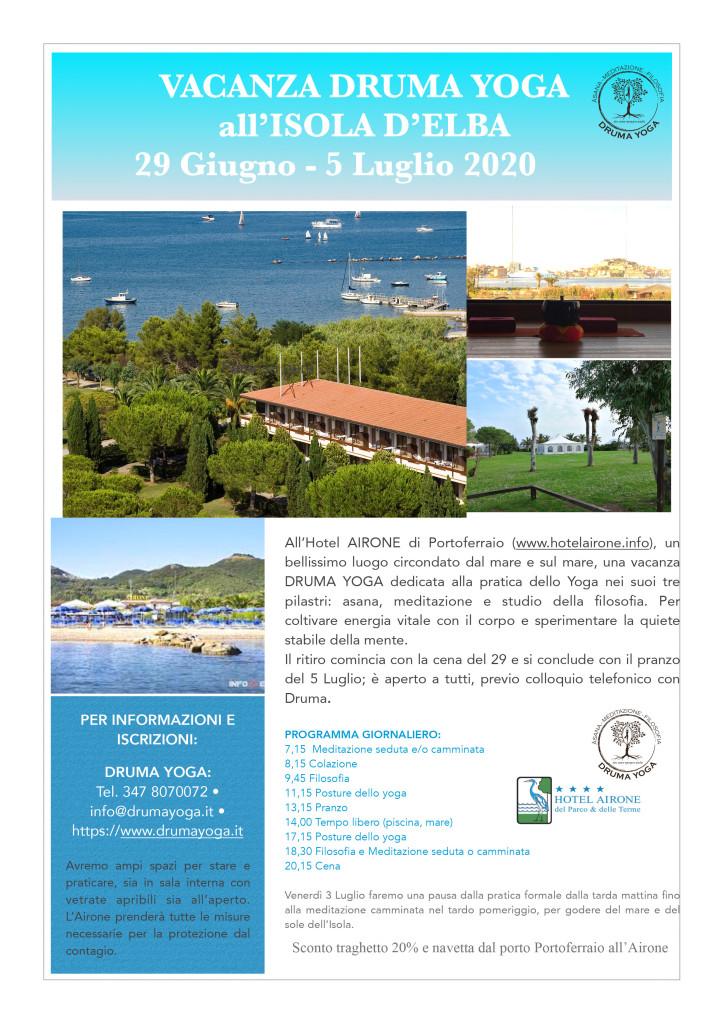 Vacanza Druma Yoga, Elba 2020